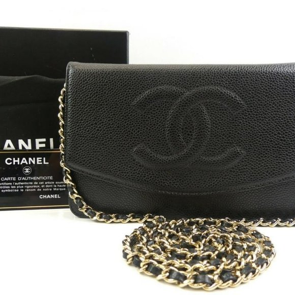 Chanel Handbags - Chanel  Black Quilted Caviar Leather Jumbo Flap